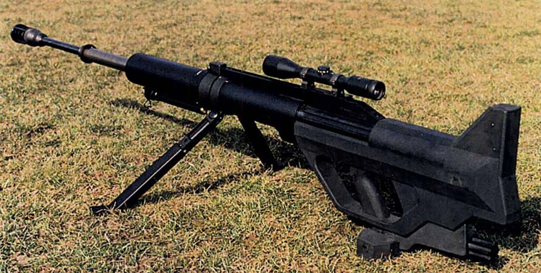 Steyr IWS 2000. Патрон: 15,2х169 мм. Вага: 18 кг. Ефективна дальність пострілу: до 1000 м.