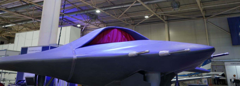 Макет перспективного ударного БПЛА ACE ONE на виставці Зброя та Безпека-2021
