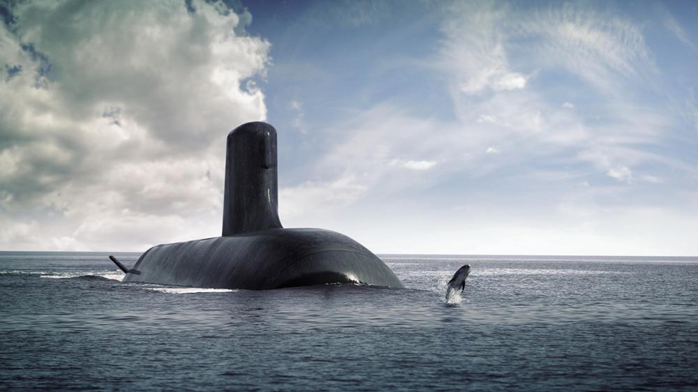 Рендер проекту субмарини Shortfin Barracuda Block 1A, які Франція мала будувати для Австралії