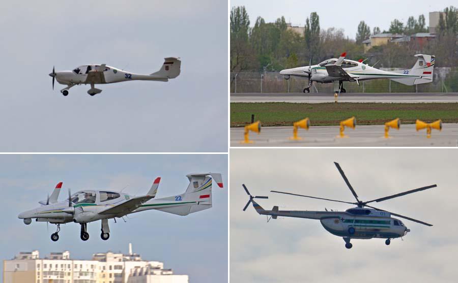 Гелікоптер Мі-8 та патрульні літаки Diamond DA40/42 ДПСУ